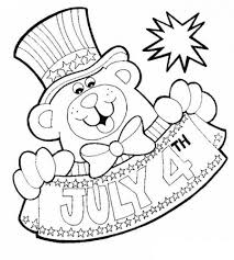 4th Of July Printable Coloring Pages US Independence Day