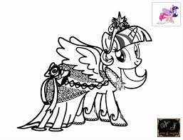 My Little Pony Coloring Pages Twilight Sparkle Alicorn Printable For