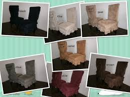 Soft Micro Suede Set Of Two Shortly Dining Chair Covers Fit Up To 42