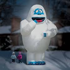 Halloween Blow Up Yard Decorations Canada by The 15 Ft Inflatable Bumble The Snow Monster Hammacher Schlemmer
