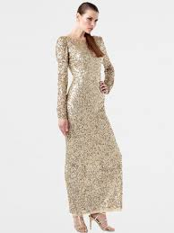 amazing scoop long sleeve sequined ankle length prom dress maxi