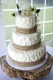 10 Amazing Burlap Wedding Cakes Rustic With Vintage