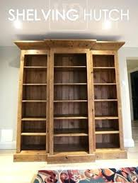 Reclaimed Wood Hutch Cabinets Shelving Unit Board Recycled