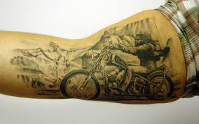 Motorcycle Tattoo On Arm