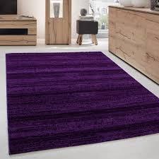 moderner wohnzimmer jugendzimmer teppich kurzflor lila violette größe 80x150 cm