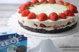 erdbeer oreo cake no bake sandras kochblog