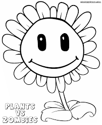 Plants Vs Zombies Sunflower Coloring Book