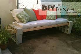 Furniture Quick And Easy Diy Outdoor Patio Bench Furniture Design