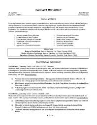 Social Worker Resume Template Sample Example Templates Free