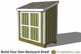 4x7 lean to shed plans icreatables diy outdoor sheds
