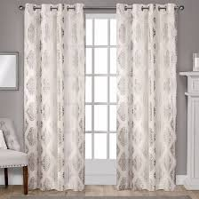 Light Filtering Privacy Curtains by Augustus Metallic Light Filtering Grommet Top Window Curtain Panel
