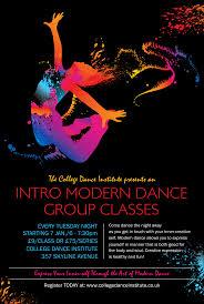 Modern Dance Black Poster