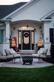 Halloween Blow Up Decorations For The Yard by Styling A Fire Themed Halloween Porch With A Dragon Yard Inflatable