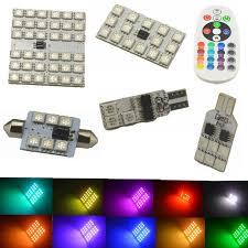 aliexpress buy 2pcs t10 ba9s rgb multi colors changing led