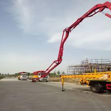 100 Concrete Pumper Truck Car Mounted Pump Boom 22m 25m 28m 37m Pump