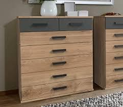 lifestyle4living kommode in plankene eiche dekor und grau 7 schubladen sorgen für viel stauraum in jedem ihrer räume