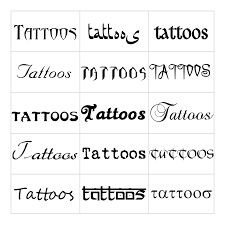 The Most Creative Tattoo Fonts