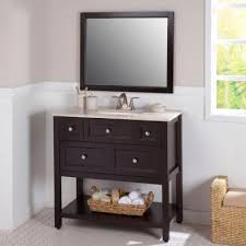 Glacier Bay Bathroom Vanity With Top by St Paul Ashland 36 5 In Vanity In Chocolate With Stone Effects