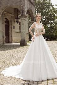 Elegant Off Shoulder Crystal Lace Wedding Dress