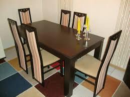 6 esszimmer stühle esszimmer tisch dunkelbraun