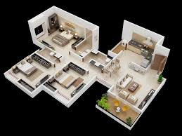 Stunning Bedroom Houses by 3 Bedroom Home Design Plans Stunning 25 More 3d Floor 4