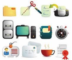 icones bureau gratuits fournitures de bureau mignon icônes vectorielles vector icon vecteur