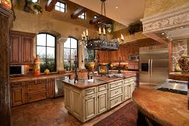 Tuscan Wall Decor For Kitchen by Brick Tuscan Kitchen Wall Decor With Chandeliers And Brown Floor