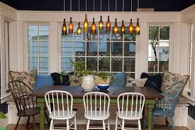 View In Gallery DIY Wine Bottle Lighting Above The Cozy Dining Space Photography Whitney Lyons