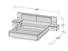 forte schlafzimmer rondino 2 teilig bestehend aus bettanlage rdnl181b liegefläche ca 180x200cm und schwebetürenschrank 2 türig bett inkl