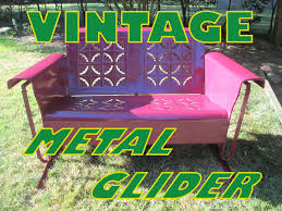 100 1960 Vintage Metal Outdoor Chairs Glider Refurbished 10 Steps With Pictures