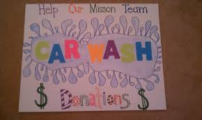 Wash Fundraiser Poster Ideas Homemade Car Posters Pinterest