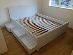 Ikea Brusali double bed with under bed storage drawers Fully