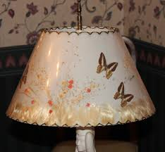 Van Briggle Lamp Base by Van Briggle Lamp Partially Lady At Well With Butterfly Shade