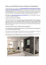 100 Popular Interior Designer PPT Kitchen Interior Bangalore PowerPoint Presentation ID7655239