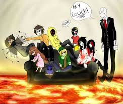 I alsways imagine that all creepypasta killers are live to her in a big house and Slenderman is some kind of father for them all