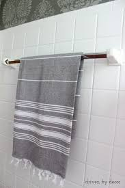how to replace a towel bar with fixed ceramic ends driven by decor