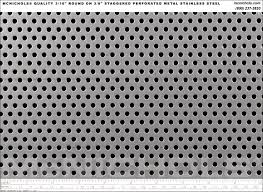 Decorative Sheet Metal Banding by Mcnichols Quality Round Perforated 16 Gauge Stainless Steel 3