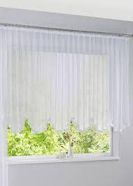 transparenter bogenstore mit satinband gardinen gardinen