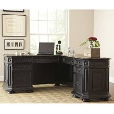Realspace Broadstreet Contoured U Shaped Desk Cherry by L Desk Office Max Hostgarcia