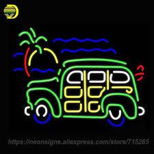 neon pour voiture exterieur néon signe pour vert voiture logo johnson gasolene ingram