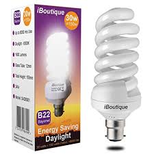 iboutique皰 30w bayonet b22 daylight energy saving light bulb