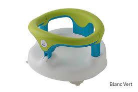siège de bain pour bébé anneau de bain bébé avec ventouses et bouton de sécurité rotho