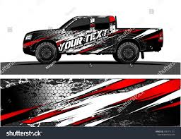 Truck Graphic Vector. Abstract Grunge Background Design For Vehicle ...