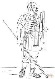 Roman Legionary Soldier Coloring Page