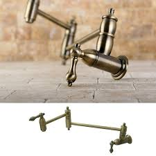 Overstock Bronze Kitchen Faucets by Restoration Kitchen Vintage Brass Pot Filler Faucet Free