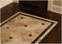 wood floor with tile inlay 盪 modern looks custom floor tile patern