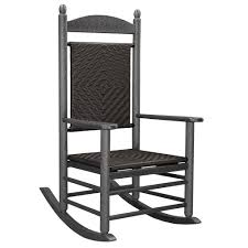 POLYWOOD K147FGYCA Cahaba Jefferson Woven Rocking Chair ... Woven Rope Midcentury Modern Rocking Chair And Ottoman At 1stdibs Polywood Presidential Rocker With Seat Back Classic Outdoor Wicker Off The A Brief History Of One Americas Favorite Chairs Cracker Barrel Spring Haven Brown Allweather Patio Polywood Jefferson Recycled Plastic Cushions Accsories White Veranda Balcony Deck Porch Pool Beach Allen Roth Belsay Dark Steel Tortuga Portside Wickercom Solid Wood Fntiure