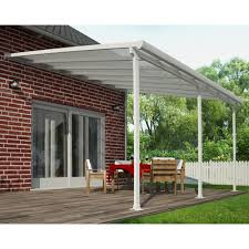 Palram Patio Cover Grey by Palram Feria 10 Ft H X 14 Ft W X 13 Ft D Patio Cover Awning