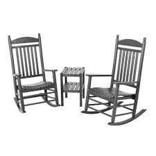 Polywood Jefferson Style 3-Piece Outdoor Rocking Chair Set - The ... 63 Wonderful Gallery Ipirations Of 3 Piece Rocker Patio Set Polywood Rocking Chairs Perfect Inspiration About Chair Design K147fblwl In By Furnishings Batesville Ar Black Outdoor Wood Rockers Child Size The Complete Guide To Buying A Polywood Blog Jefferson Woven Outsunny Wooden Party For Sale Pwrockerset3 Recycled Plastic By Company Official Store