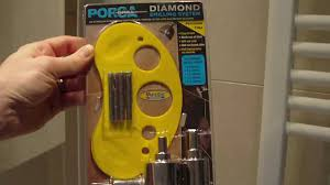 how to drill holes into very hard porcelain tiles with diamond
